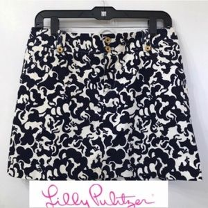🛍Lilly Pulitzer Horse Of Course Cordrouy Skirt